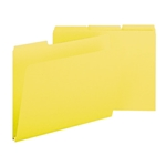 Smead 21562 Yellow Pressboard File Folder, 1/3-Cut Tab, 1