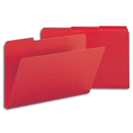 Smead 22538 Bright Red Pressboard File Folder, 1/3-Cut Tab, 1