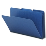 Smead 22541 Dark Blue Pressboard File Folder, 1/3-Cut Tab, 1