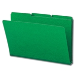 Smead 22546 Green Pressboard File Folder, 1/3-Cut Tab, 1