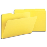 Smead 22562 Yellow Pressboard File Folder, 1/3-Cut Tab, 1
