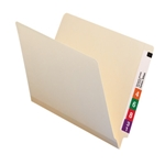 Smead 24125 Manila End Tab TUFF Laminated File Folder, Shelf-Master Reinforced Straight-Cut Tab, Letter