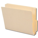 "Smead 24179 Manila End Tab File Folder, Shelf-Master Reinforced 4"" High Tab 1-1/8"" Up from Bottom, Letter"