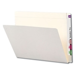 Smead 24509 Ivory End Tab File Folder, Reinforced Straight-Cut Extended Tab, Letter