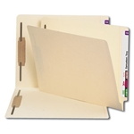 Smead 24600 Manila End Tab Fastener File Folder, Shelf-Master Reinforced Straight-Cut Tab, 2 Fasteners, Letter