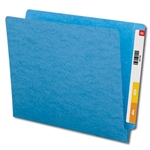 Smead 25010 Blue End Tab File Folder, Shelf-Master Reinforced Straight-Cut Tab, Letter
