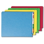 Smead 25013 Assorted End Tab File Folder, Shelf-Master Reinforced Straight-Cut Tab, Letter