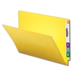Smead 25910 Yellow End Tab File Folder, Shelf-Master Reinforced Straight-Cut Tab, Letter