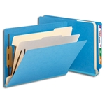 Smead 26836 Blue End Tab Classification File Folder, 2 Dividers, 2