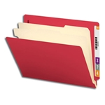Smead 26838 Red End Tab Classification File Folder, 2 Dividers, 2