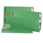 Smead 28140 Green End Tab Fastener File Folder, Shelf-Master Reinforced Straight-Cut Tab, 2 Fasteners, Legal