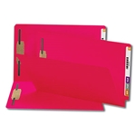 Smead 28740 Red End Tab Fastener File Folder, Shelf-Master Reinforced Straight-Cut Tab, 2 Fasteners, Legal