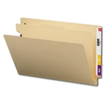 Smead 29825 Manila End Tab Classification File Folder, 1 Divider, 2