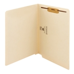 Smead 34110 Manila End Tab Fastener File Folder, Shelf-Master Reinforced Straight-Cut Tab, 1 Fastener, Letter