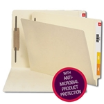 Smead 34113 Manila End Tab Fastener File Folder with Antimicrobial Product Protection, Shelf-Master Reinforced Straight-Cut Tab, 1 Fastener, Letter