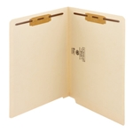 Smead 34115 Manila End Tab Fastener File Folder, Shelf-Master Reinforced Straight-Cut Tab, 2 Fasteners, Letter