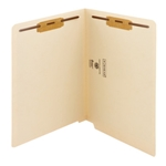 Smead 34116 Manila End Tab Fastener Folder with Antimicrobial Product Protection, Shelf-Master Reinforced Straight-Cut Tab, 2 Fasteners, Letter