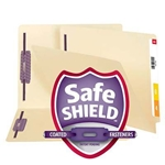 Smead 34117 Manila End Tab Fastener File Folder with SafeSHIELD, Shelf-Master Reinforced Straight-Cut Tab, 2 Fasteners, Letter