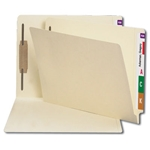 Smead 34210 Manila End Tab Fastener File Folder, Shelf-Master Reinforced Straight-Cut Tab, 1 Fastener, Letter