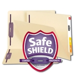 Smead 34217 Manila End Tab Fastener Heavyweight File Folder with SafeSHIELD, Shelf-Master Reinforced Straight-Cut Tab, 2 Fasteners, Letter
