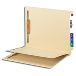 Smead 34220 Manila End Tab Fastener Folder with Divider, 2 Fasteners, Reinforced Straight-Cut Tab, 1 Divider, Letter