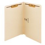 Smead 37115 Manila End Tab Fastener File Folder, Shelf-Master Reinforced Straight-Cut Tab, 2 Fasteners, Legal