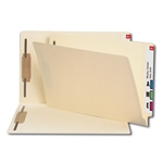 Smead 37215 Manila End Tab Fastener File Folder, Shelf-Master Reinforced Straight-Cut Tab, 2 Fasteners, Legal