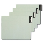 Smead 61635 End Tab 100% Recycled Pressboard Guides, Vertical Metal Tab (Blank), Extra Wide Letter, Gopher Green