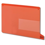 Smead 61950 Red End Tab Poly Out Guides, Two-Pocket Style, Bottom Position Tab, Letter