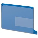 Smead 61951 Blue End Tab Poly Out Guides, Two-Pocket Style, Bottom Position Tab, Letter