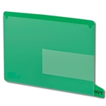 Smead 61952 Green End Tab Poly Out Guides, Two-Pocket Style, Bottom Position Tab, Letter