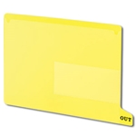 Smead 61956 Yellow End Tab Poly Out Guides, Two-Pocket Style, Bottom Position Tab, Letter