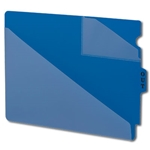 Smead 61961 Blue End Tab Poly Out Guides, Two-Pocket Style, Center Position Tab, Extra Wide Letter