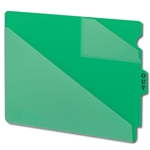 Smead 61962 Green End Tab Poly Out Guides, Two-Pocket Style, Center Position Tab, Extra Wide Letter
