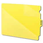 Smead 61966 Yellow End Tab Poly Out Guides, Two-Pocket Style, Center Position Tab, Extra Wide Letter