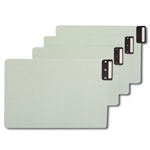 Smead 63235 End Tab 100% Recycled Pressboard Guides, Vertical Metal Tab (Blank), Extra Wide Legal, Gopher Green