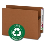 Smead 73610 Redrope 100% Recycled End Tab Extra Wide Pocket, Straight-Cut Tab, 3-1/2