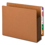 "Smead 73681 Dark Brown End Tab Pocket, Reinforced Straight-Cut Tab, 3-1/2"" Expansion, Extra Wide Letter"