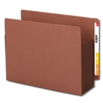"Smead 73691 Dark Brown End Tab Pocket, Reinforced Straight-Cut Tab, 5-1/4"" Expansion, Extra Wide Letter"