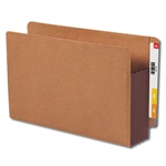 Smead 74681 Dark Brown End Tab Pocket, Reinforced Straight-Cut Tab, 3-1/2