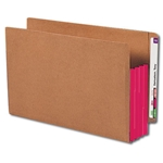 Smead 74686 Red End Tab Pocket, Reinforced Straight-Cut Tab, 3-1/2