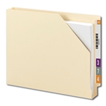 "Smead 75740 Manila End Tab File Jacket, Shelf-Master Reinforced Straight-Cut Tab, 1-1/2"" Expansion, Letter"