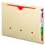 Smead 76900 Manila End Tab Dental-Style File Jacket, Reinforced Straight-Cut Tab, Flat-No Expansion, Letter
