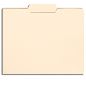 Smead 10336 Manila File Folder, Reinforced 1/3-Cut Tab Center Position, Letter