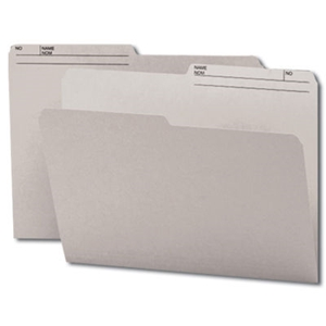 Smead 10363 Gray Reversible File Folder, 1/2-Cut Printed Tab, Letter