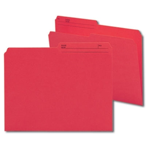 Smead 10372 Red Reversible File Folder, 1/2-Cut Printed Tab, Letter