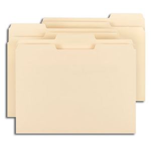 Smead 11928 Manila File Folder, 1/3-Cut Tab, Assorted Positions, Letter