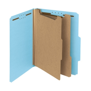 "Smead 14021 Blue 100% Recycled Pressboard Classification Folder, 2 Dividers, 2"" Expansion, Letter"