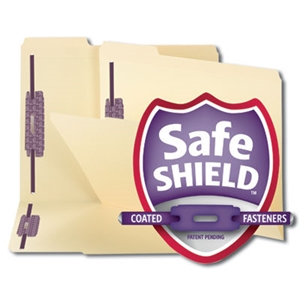 Smead 14555 Manila Fastener File Folder with SafeSHIELD, 2 Fasteners, Reinforced 1/3-Cut Tab, Letter