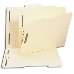 Smead 14580 Manila Fastener File Folder, 2 Fasteners, Reinforced 2/5-Cut Tab Right of Center Position, Guide Height, Letter